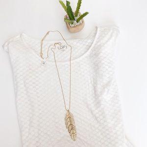 Francesca's Feather Necklace